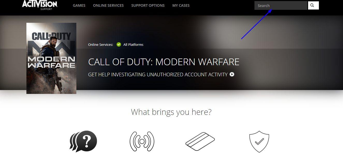 Modern Warfare customer support